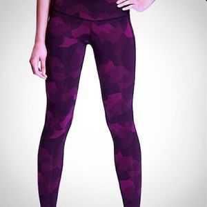 Old Navy purple pink camo compression leggings S
